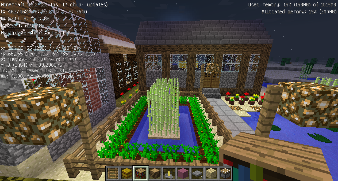 Awesome beau jardin minecraft pictures design trends for Minecraft jardin